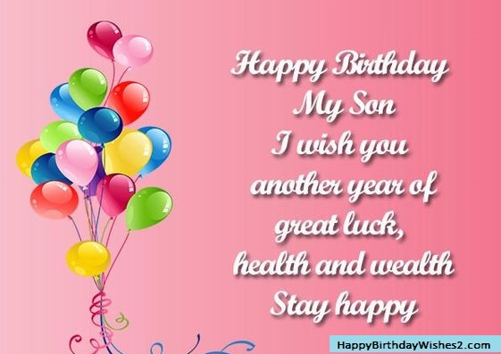 birthday sms for son