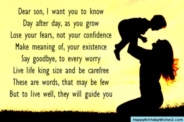 100 best birthday wishes messages and quotes for son birthday wish for son from mother m4hsunfo