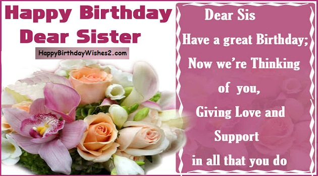 100 best happy birthday wishes messages and quotes for sister happy birthday messages for sister m4hsunfo