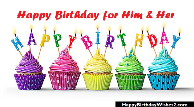 happy birthday images for him and her