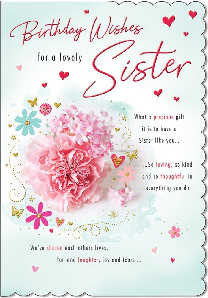 birthday greeting cards for sister