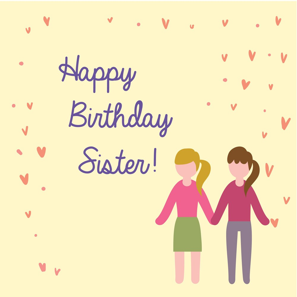 happy birthday to my sister images