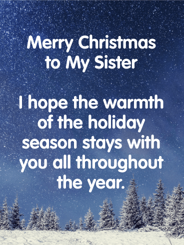 christmas greetings for sister
