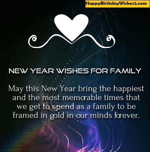 happy new year messages for family and friends