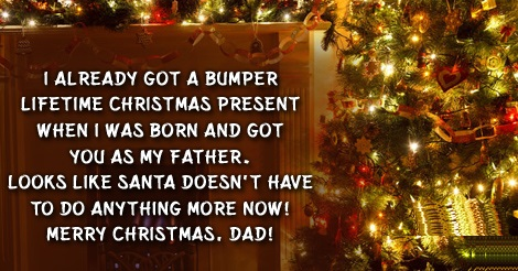 merry christmas greetings for dad
