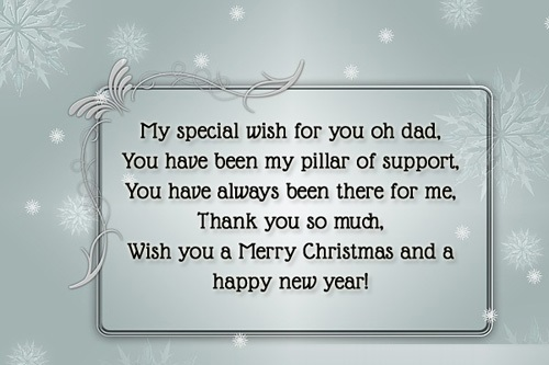 merry christmas messages for dad