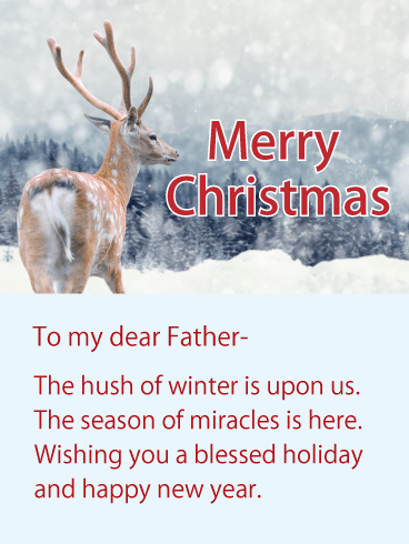 merry christmas wishes for dad