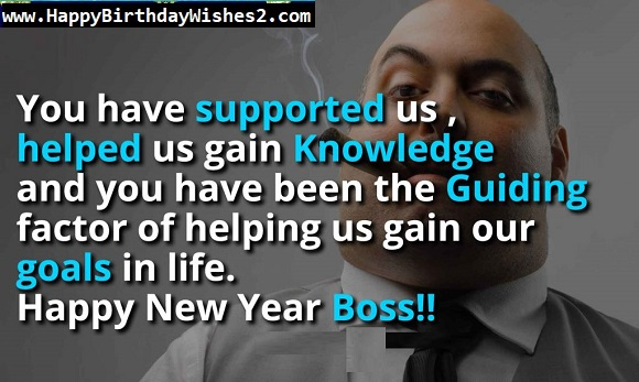 new year greetings to boss