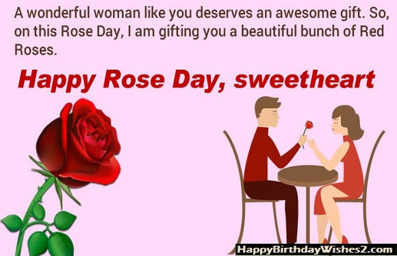 rose day status for gf