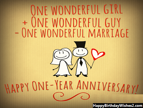 1st year marriage anniversary wishes