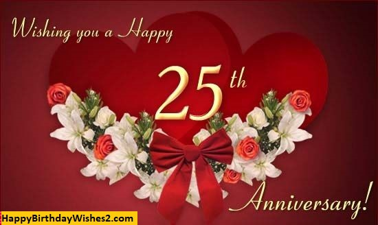 25th wedding anniversary wishes for wife