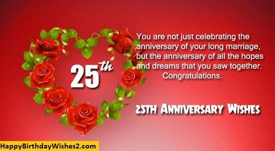 happy 25th marriage anniversary mom dad