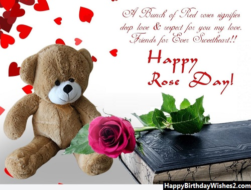 happy rose day friend image