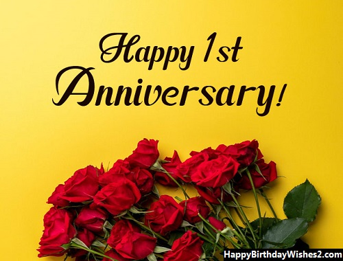 happy wedding anniversary 1 year