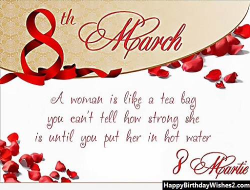 happy women's day to sister
