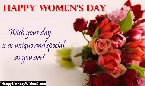 women's day messages for wife