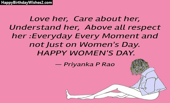 women's day messages for girlfriend