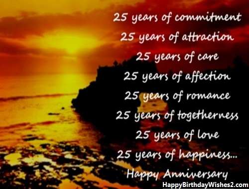 25th wedding anniversary wishes to friend