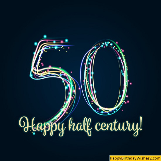 50th birthday images for her