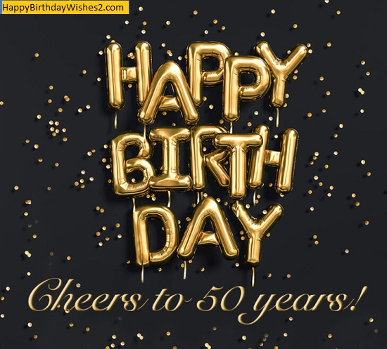 50th birthday wishes images