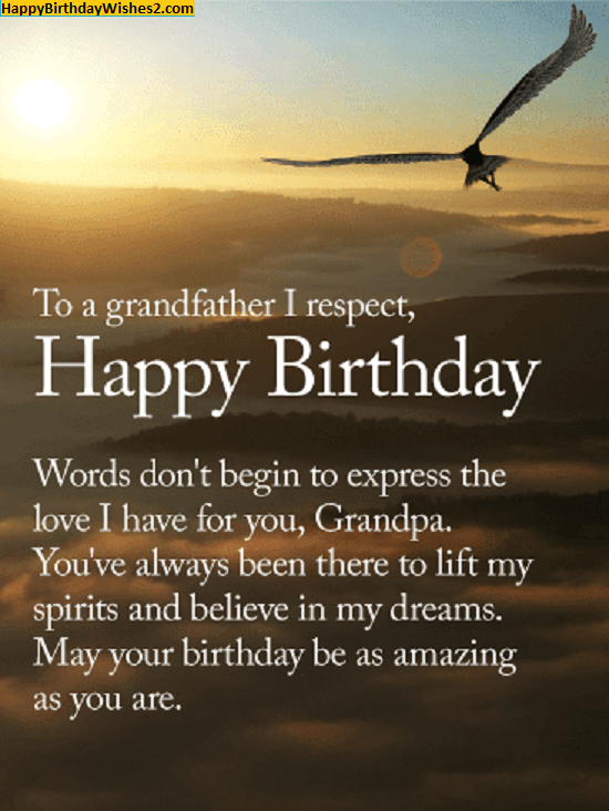 birthday message for grandpa