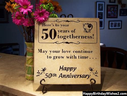 golden marriage anniversary wishes