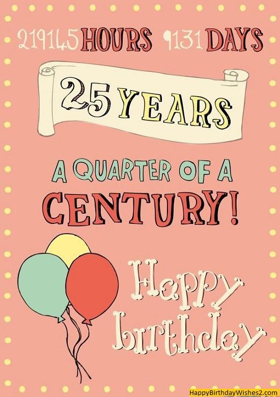 happy birthday 25