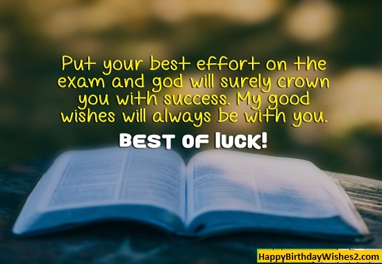 good luck quotes for exams