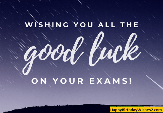 all the best status for exam