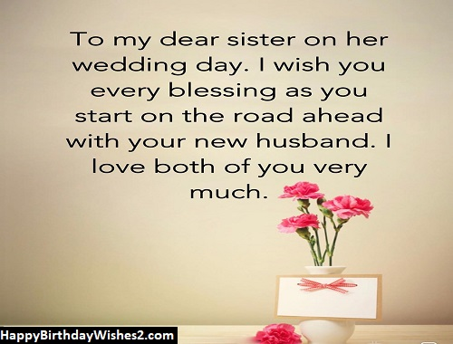 happy married life wishes for sister