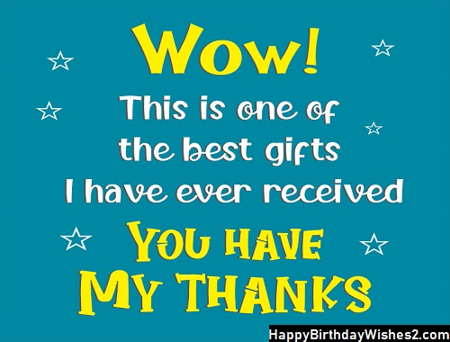 thanks message for gift