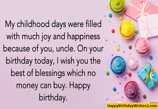 happy birthday message to an uncle