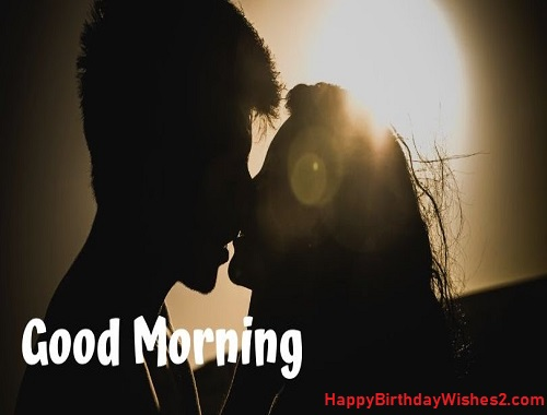 good morning romantic couple images