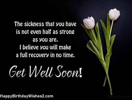 i wish you speedy recovery